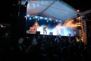 Show da banda Gratidão da Marcha para Jesus em Tacuru