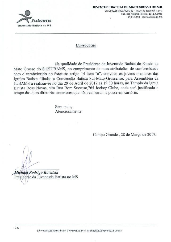 Assembleia da Jubams @ IGREJA BATISTA BOAS NOVAS | Mato Grosso do Sul | Brasil